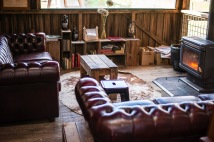 Leather couches at The Apple Shed